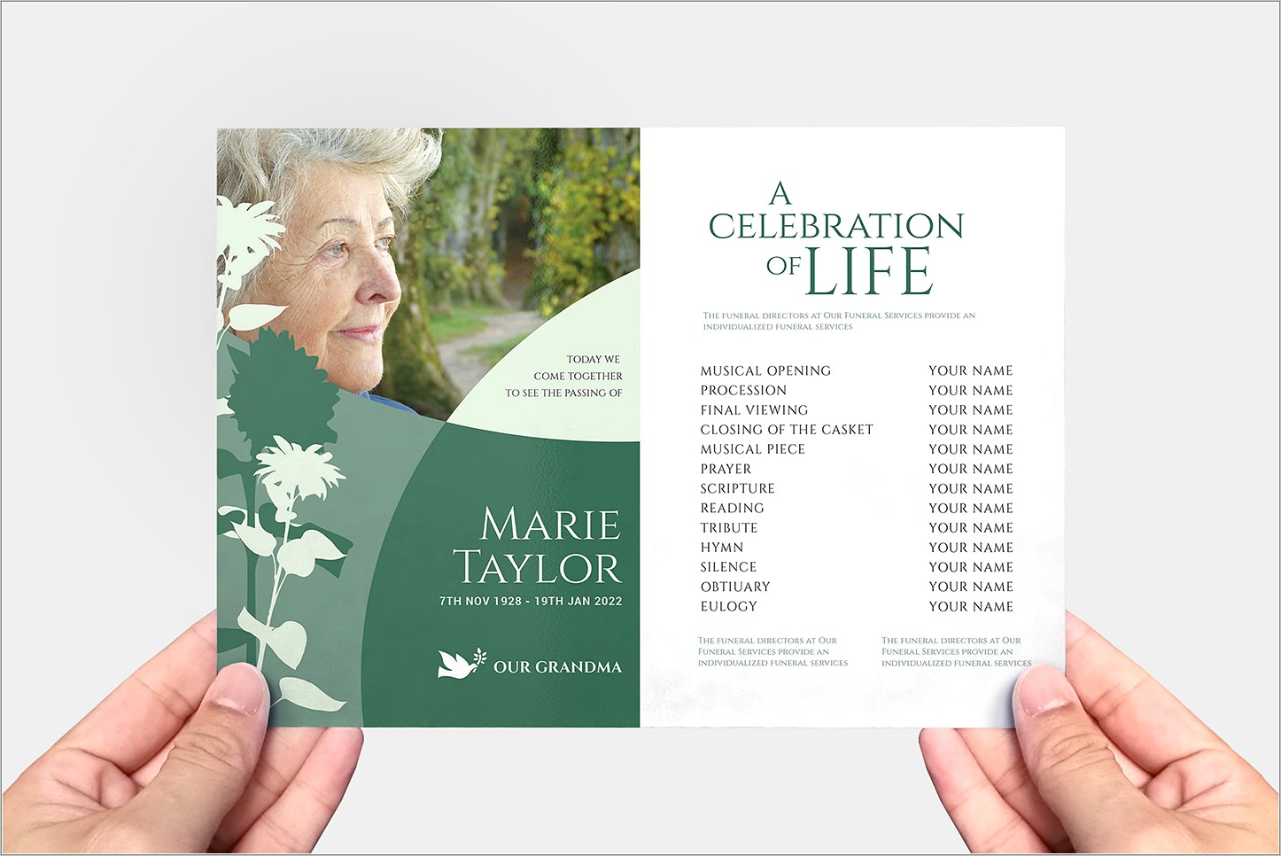 Free Funeral Service Brochure Templates
