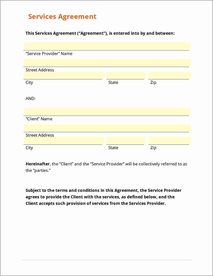 Free General Agreement Contract Template