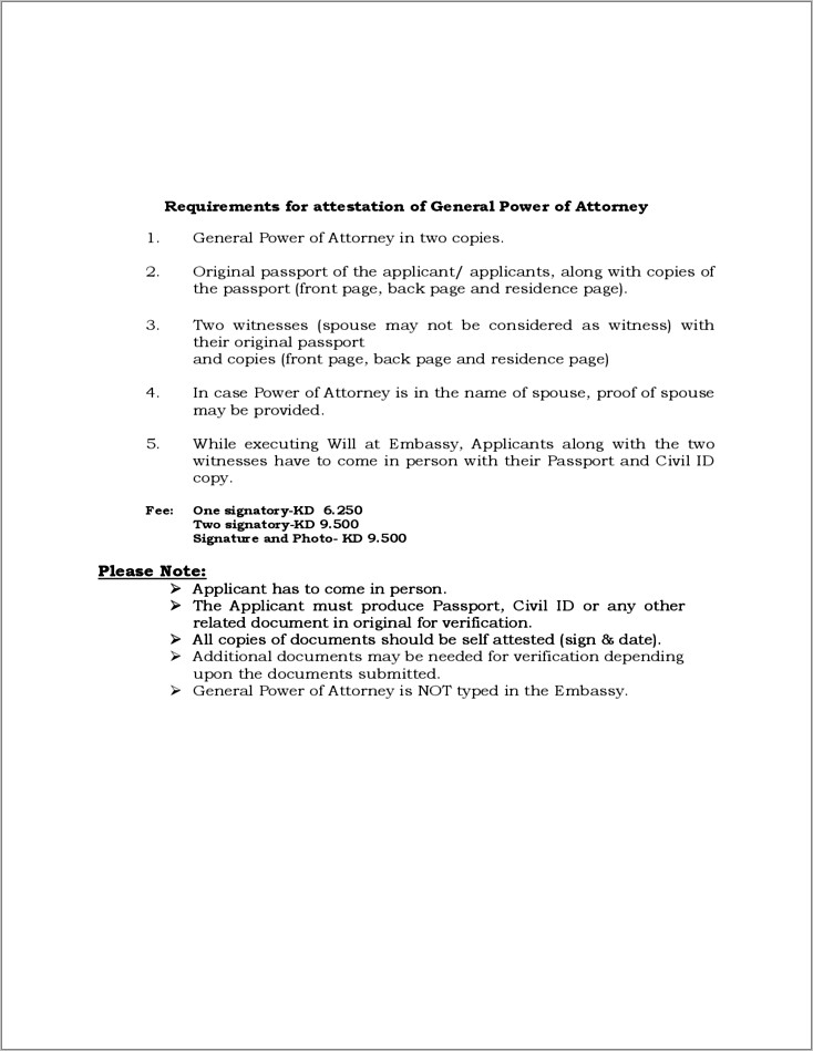 Free General Power Of Attorney Template Download
