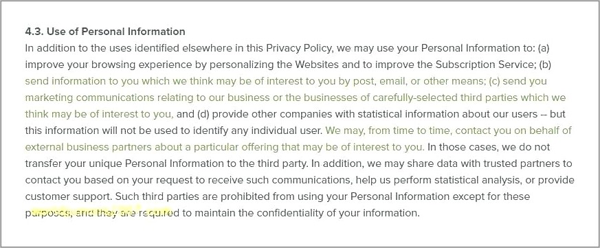 Free Generic Privacy Policy Template