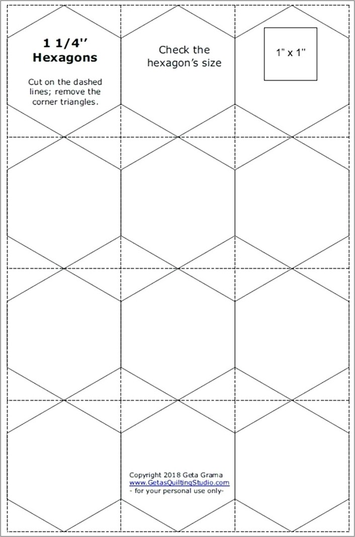 Free Hexagon Pattern For Quilting