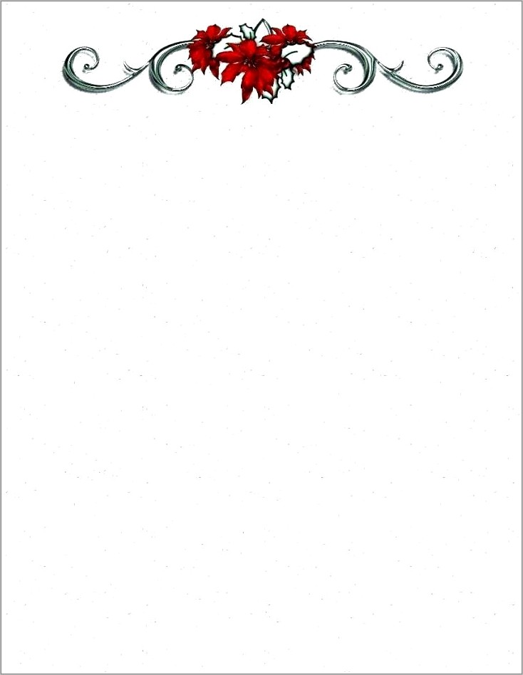 Free Holiday Letterhead Templates For Word