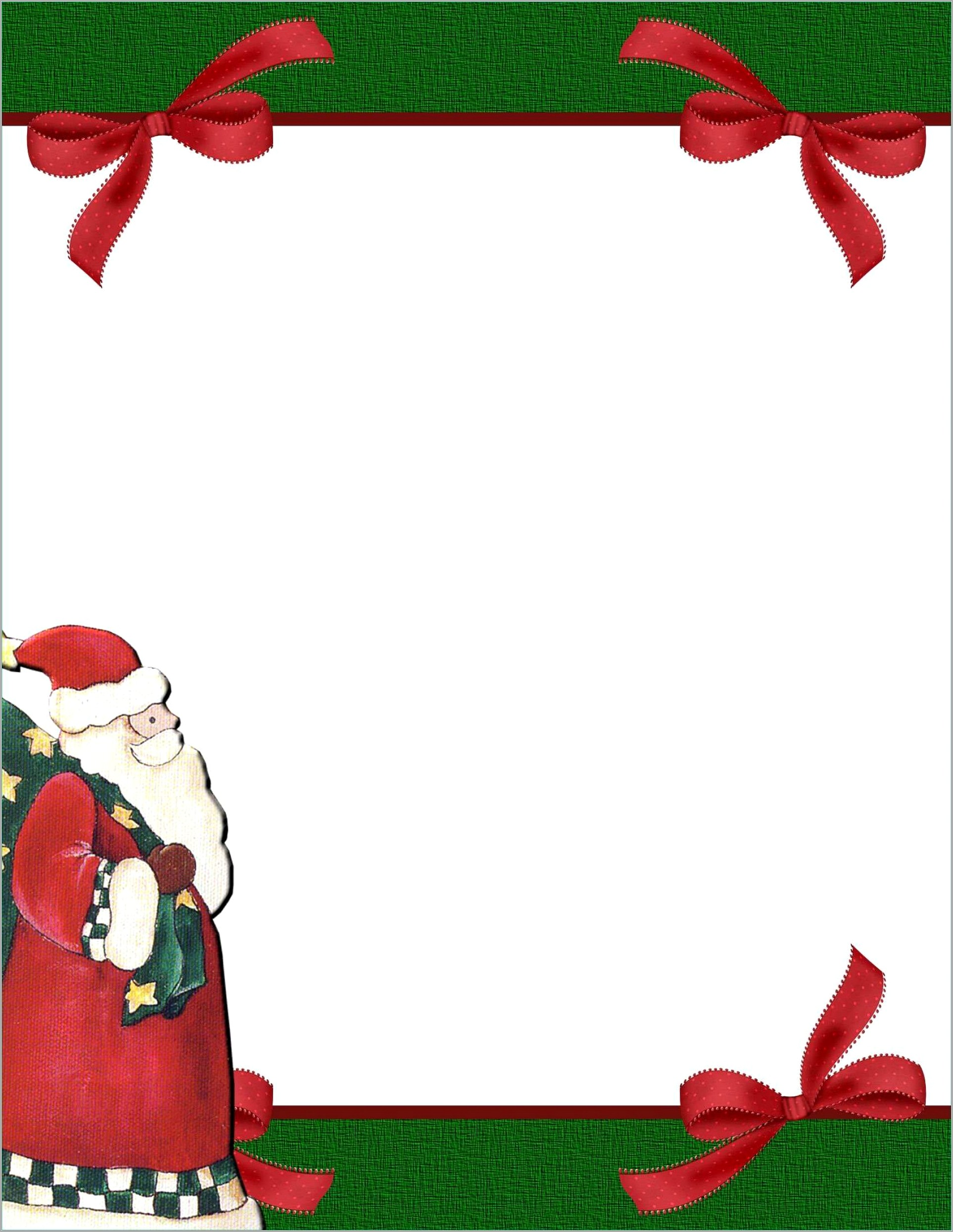 Free Holiday Stationery Templates For Word