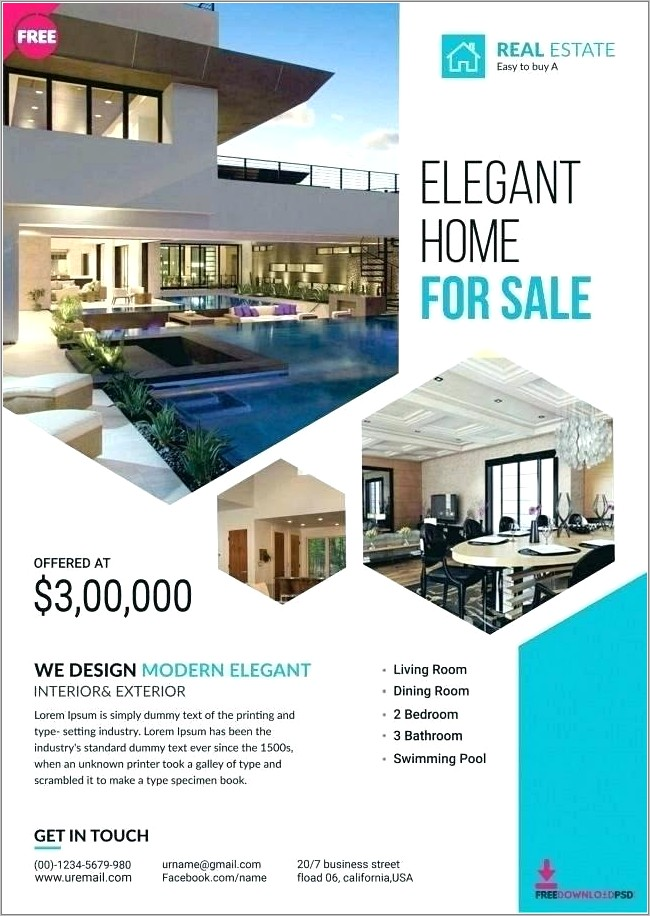 Free Home Listing Flyer Template