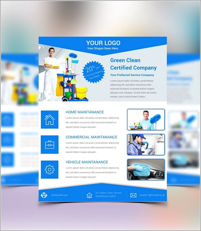 Free House Cleaning Services Flyer Templates