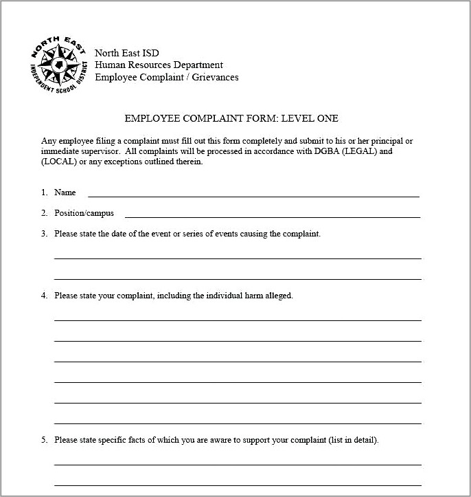 Free Hr Employee Forms Templates