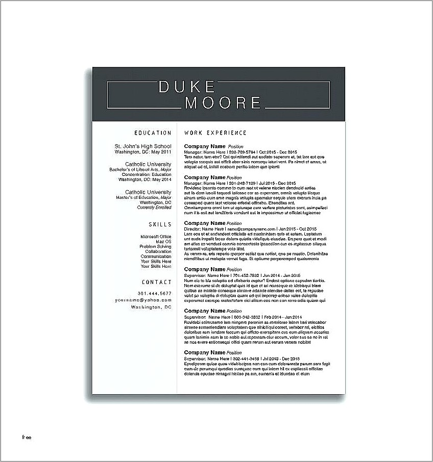 Free Information Technology Resume Templates