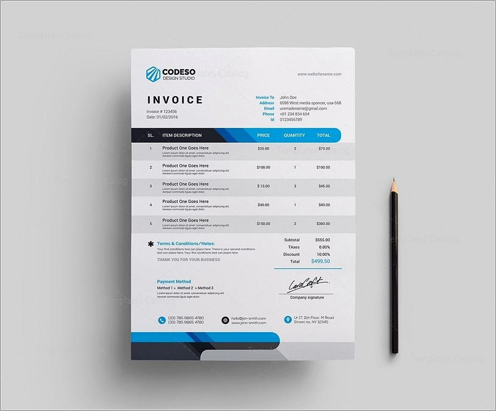 Free Invoice Template Doc Download