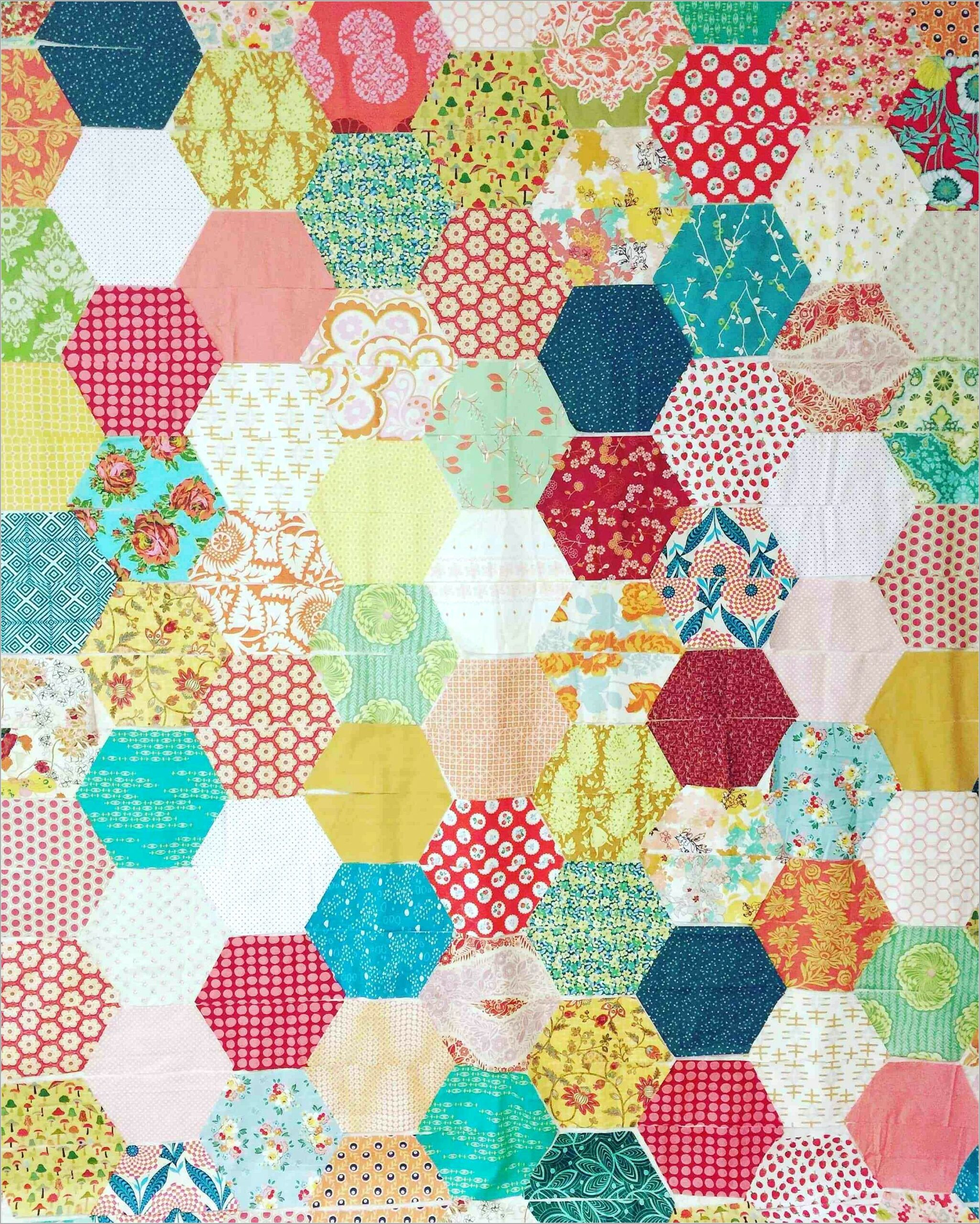 Free Large Hexagon Quilt Pattern