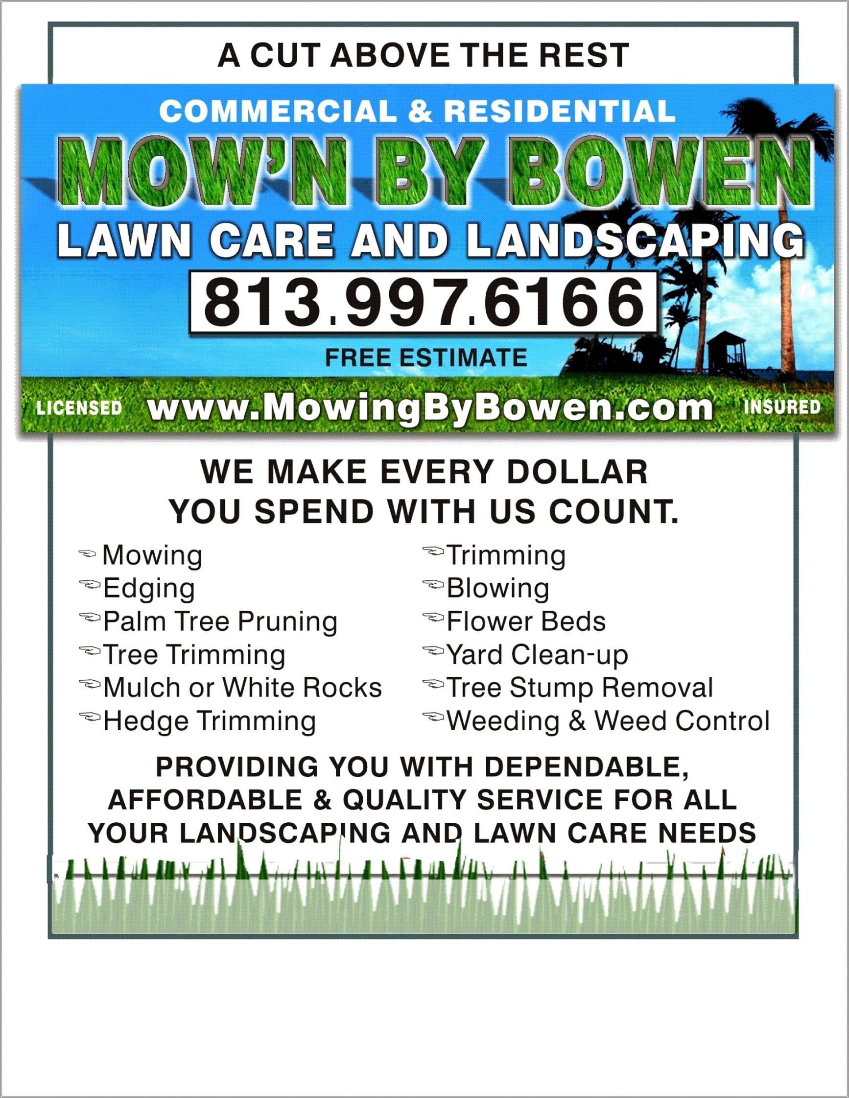 Free Lawn Care Service Flyer Template