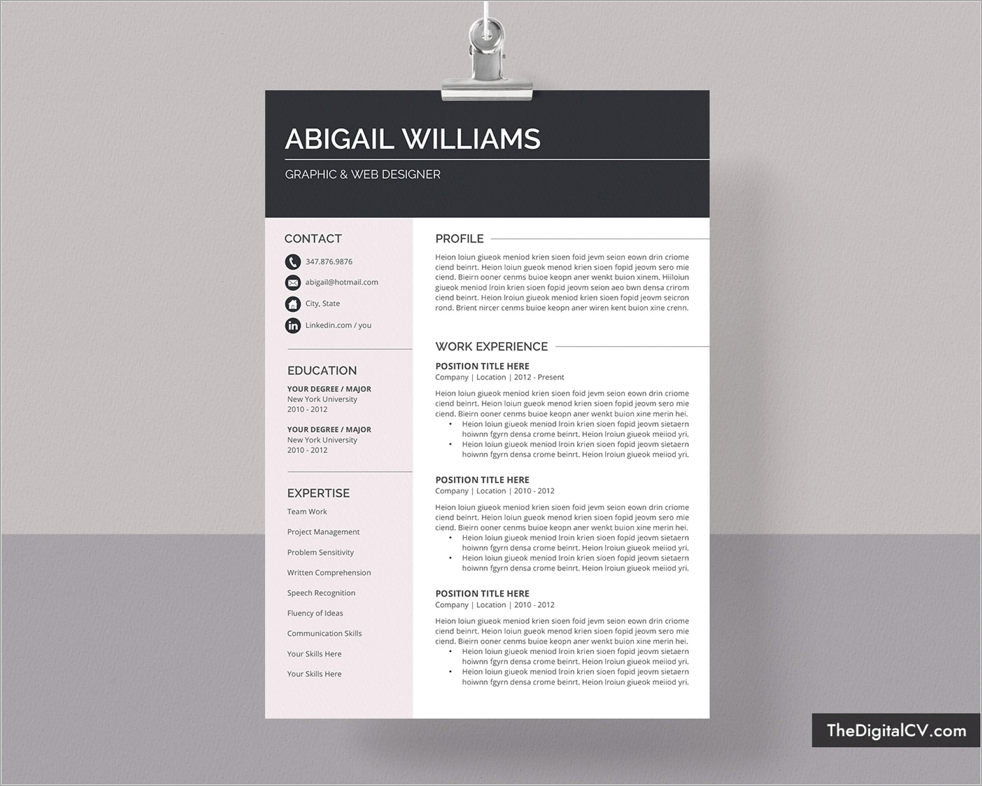 Free Modern Resume Templates For Word 2019