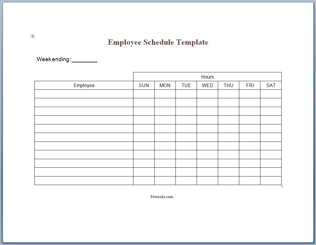 Free Monthly Training Calendar Template