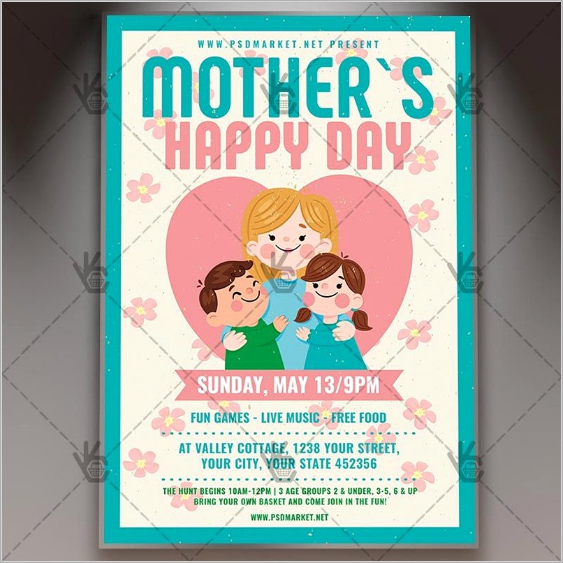 Free Mothers Day Brunch Flyer Template