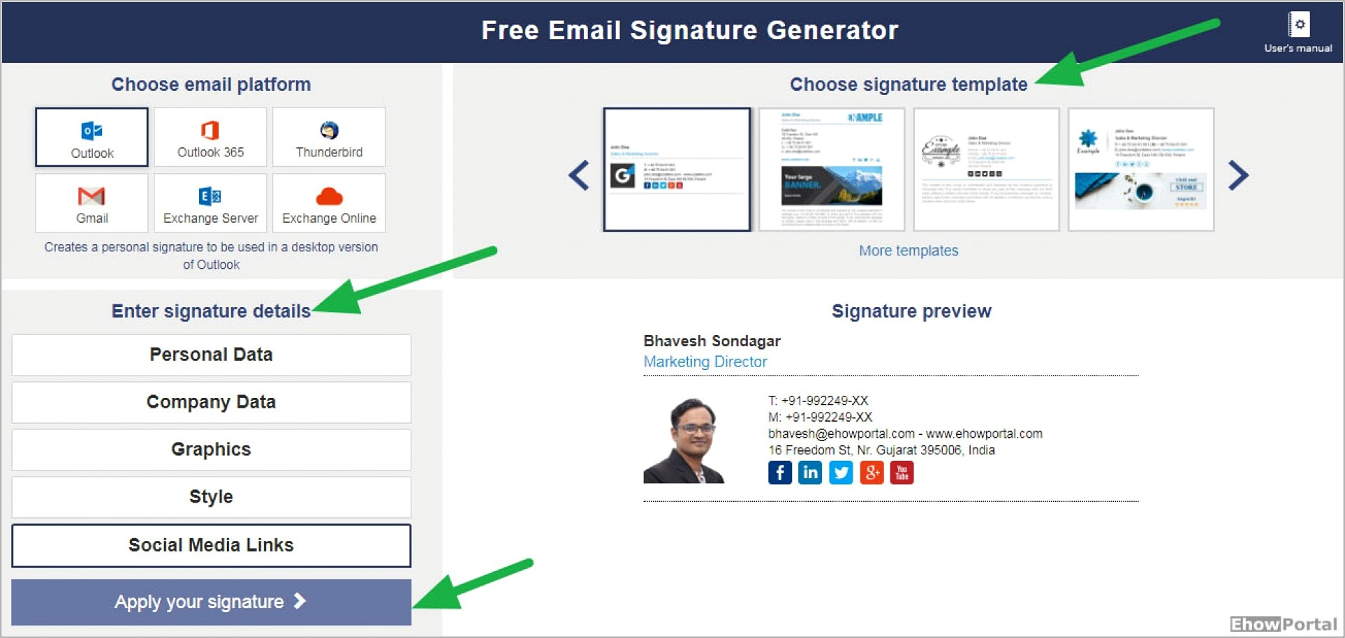 Free Professional Email Signatures Templates