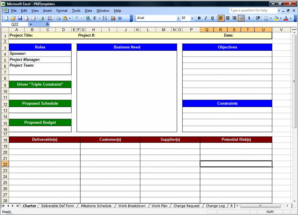 Free Project Management Spreadsheet Templates