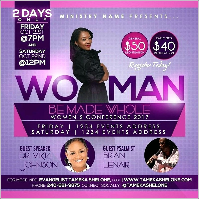 Free Womens Conference Flyer Templates