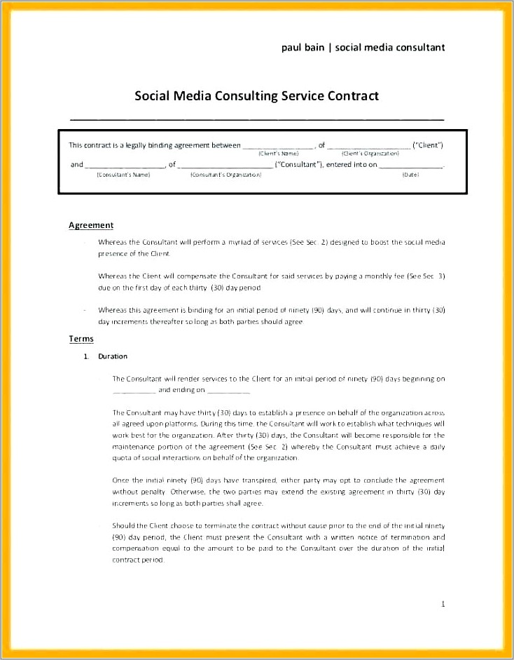 Freelance Contract Examples Uk