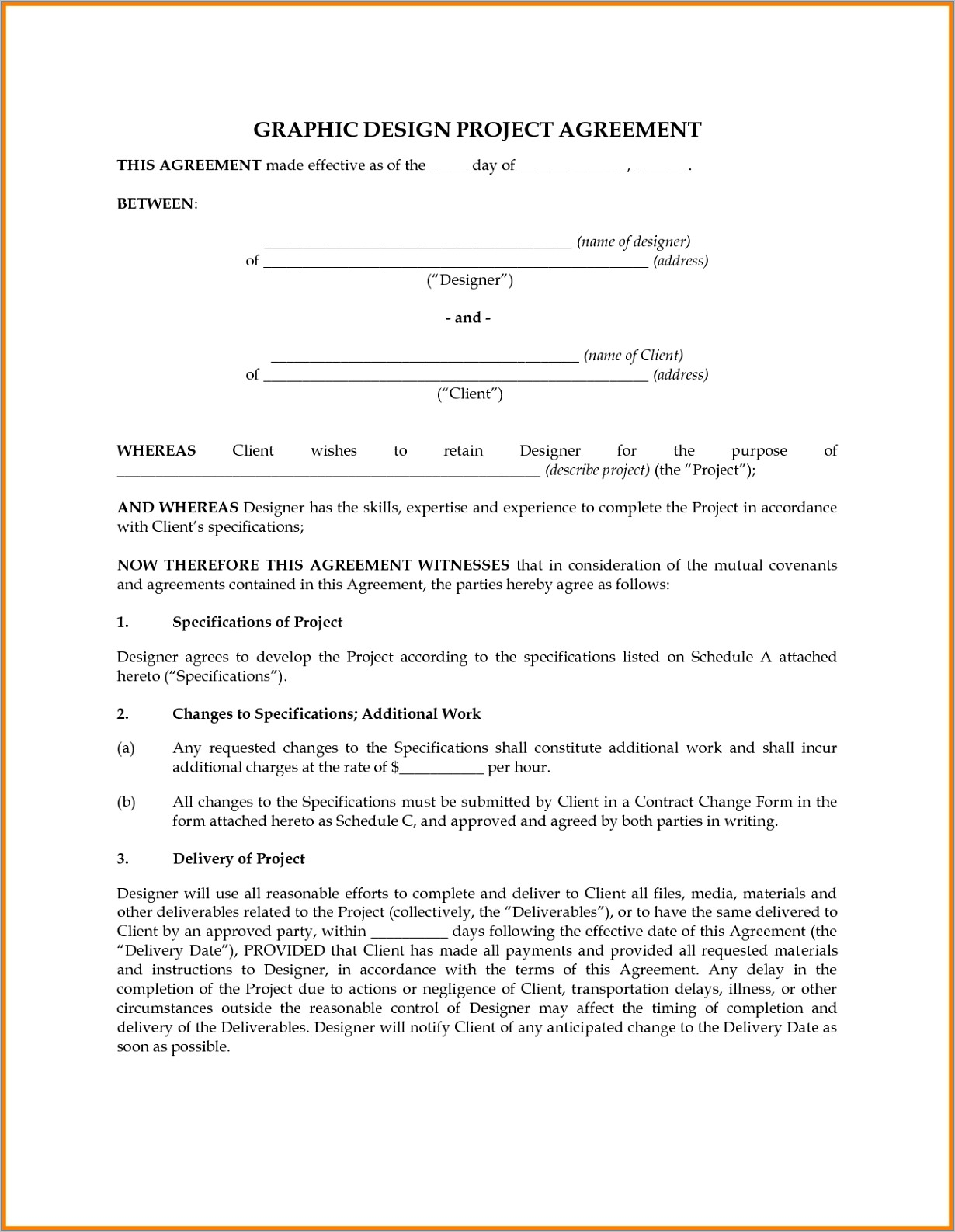 Freelance Graphic Design Contract Template