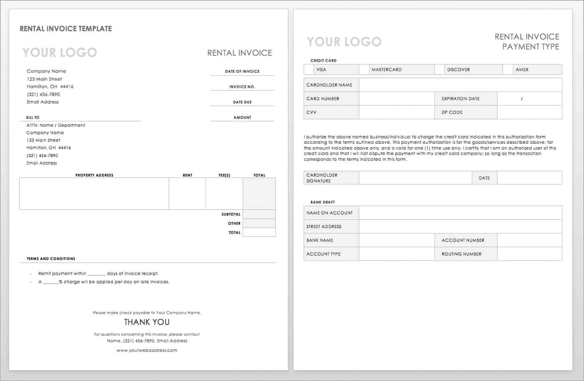 Freelance Writing Invoice Template Word
