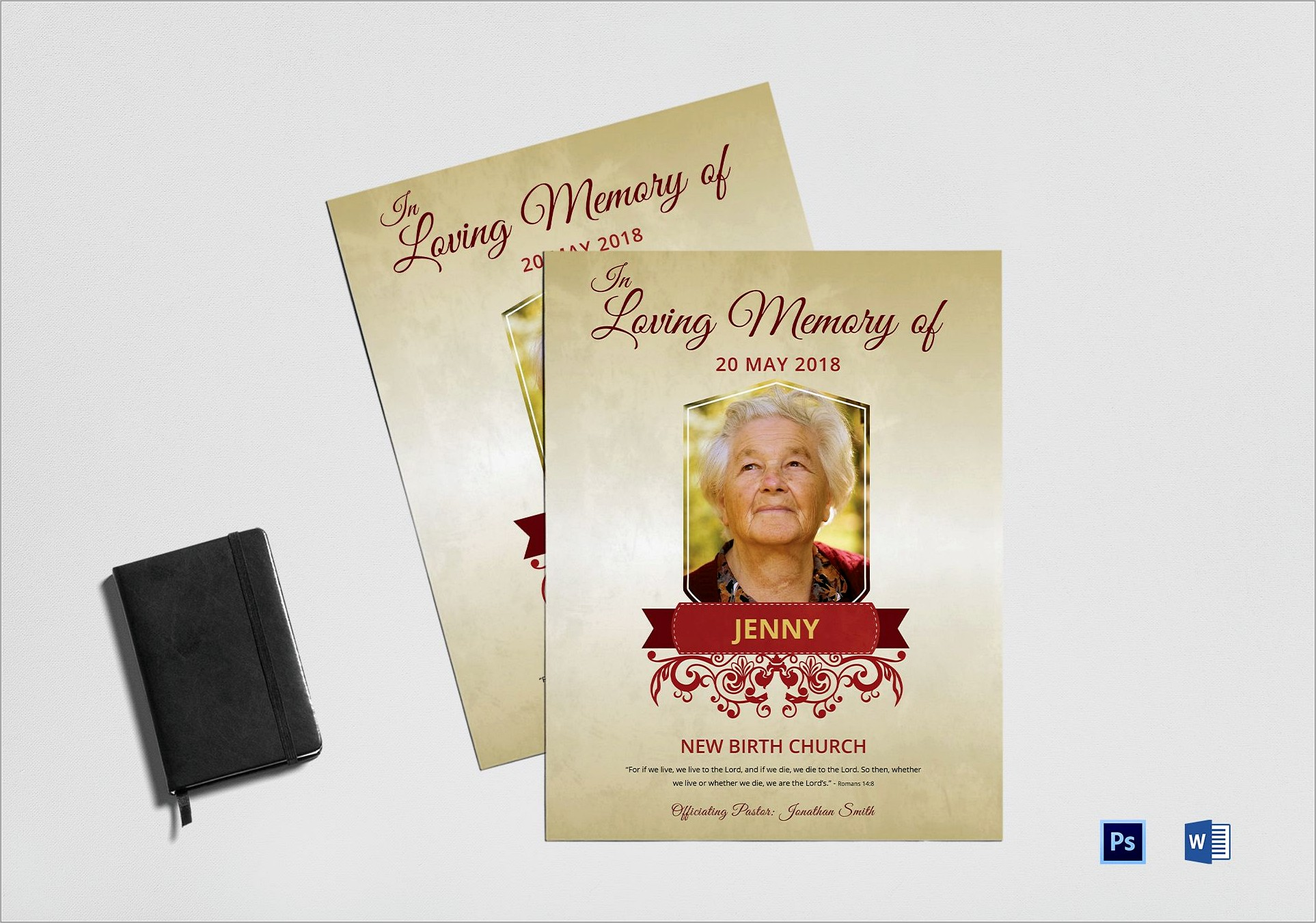 Funeral Flyer Template Word
