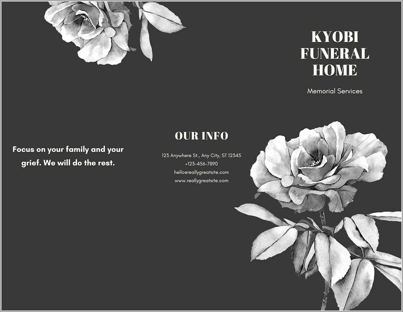 Funeral Home Brochure Templates
