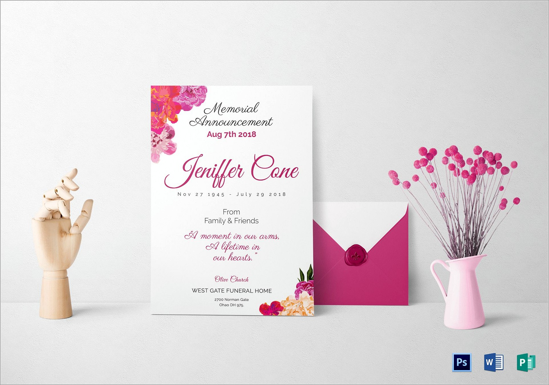 Funeral Invitations Templates Free
