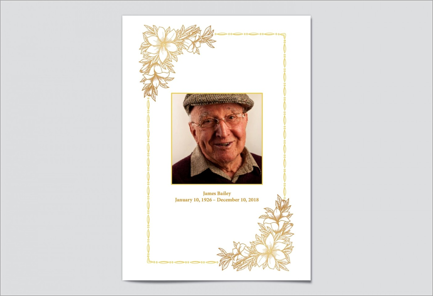 Funeral Pamphlet Template Free Word