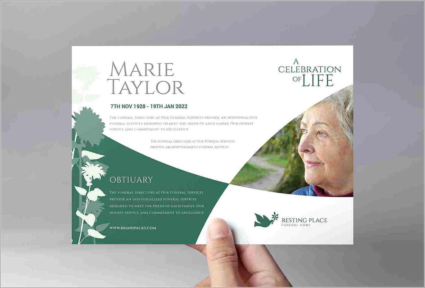 Funeral Poster Templates Free