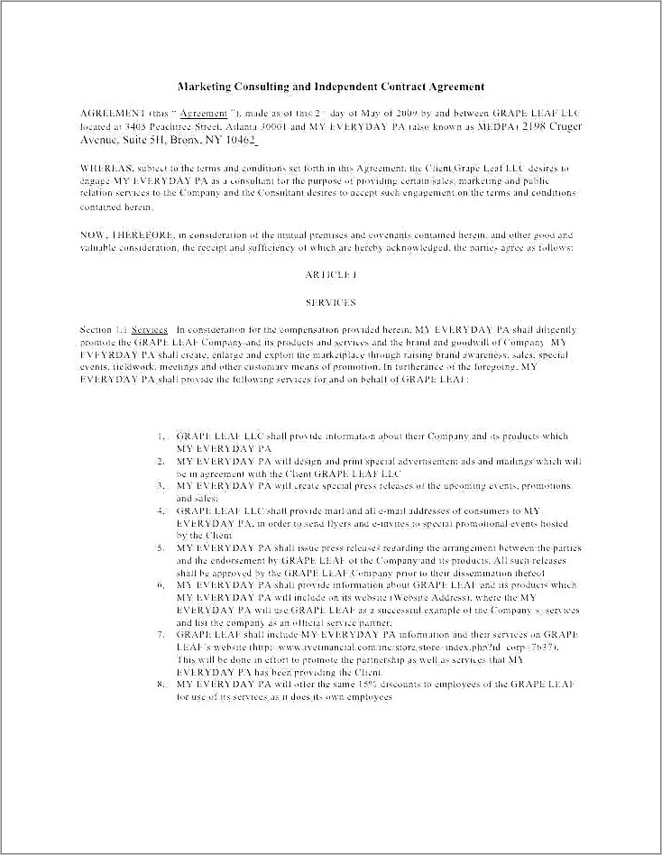 Funny Relationship Agreement Template