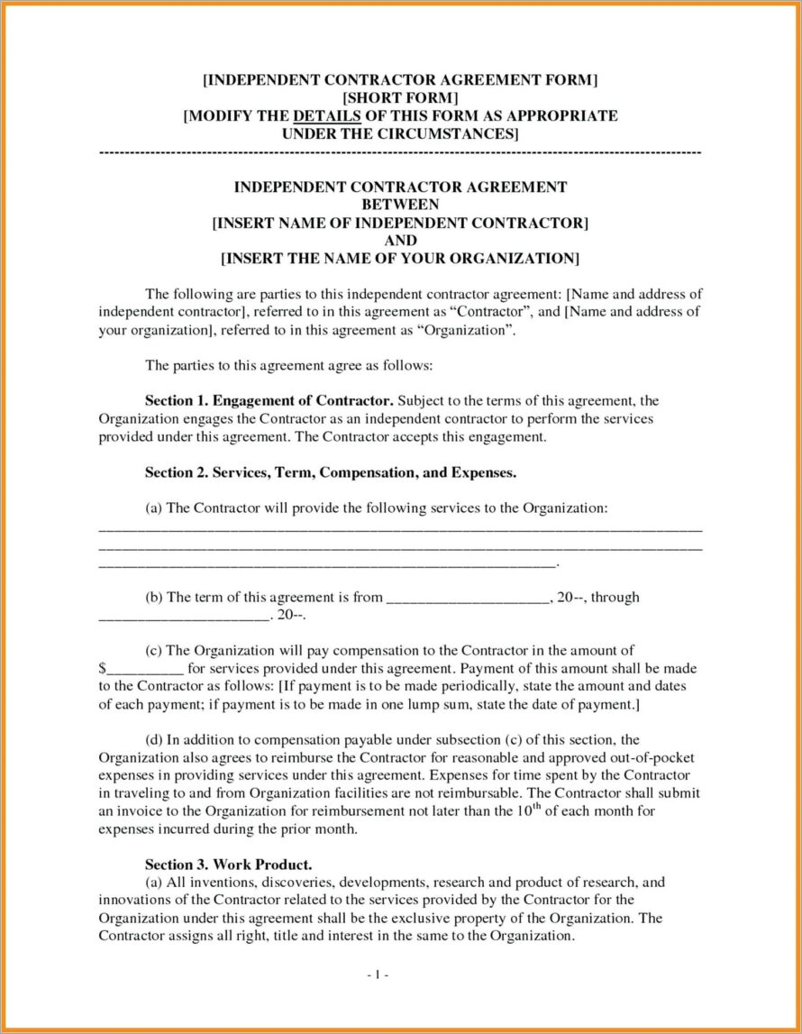 General Contractor Contract Example