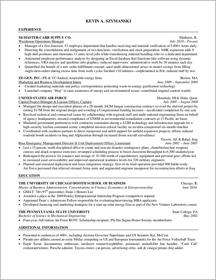 General Labour Resume Examples
