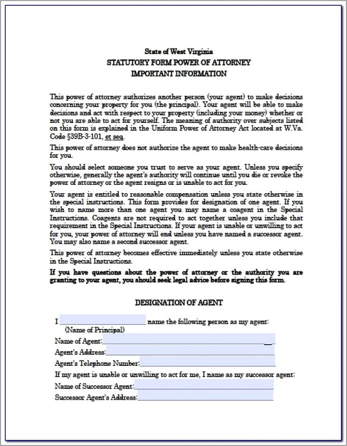 General Power Of Attorney Form Georgia Free