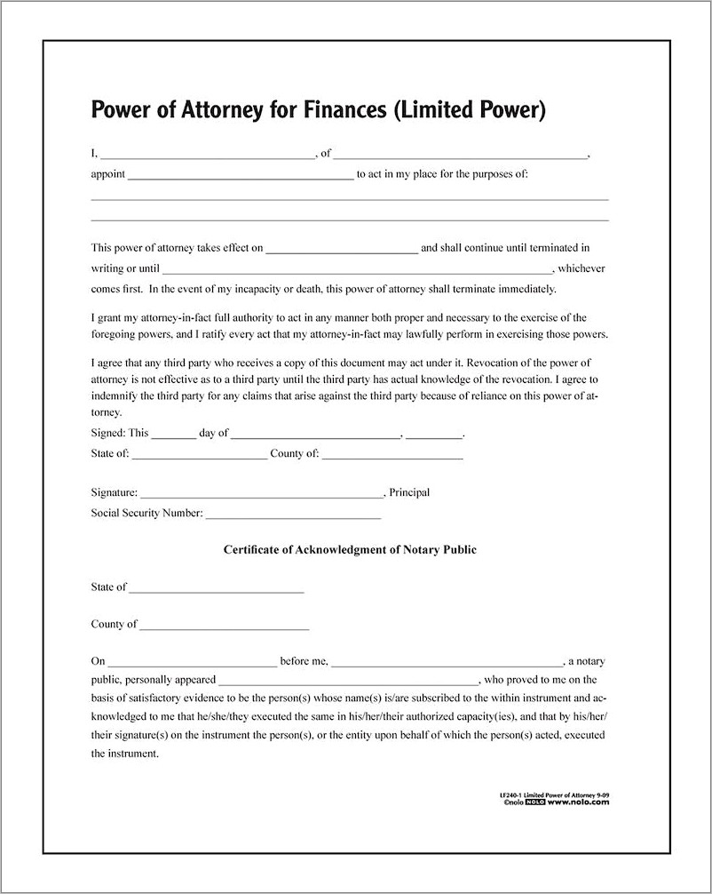 General Power Of Attorney Forms Uk