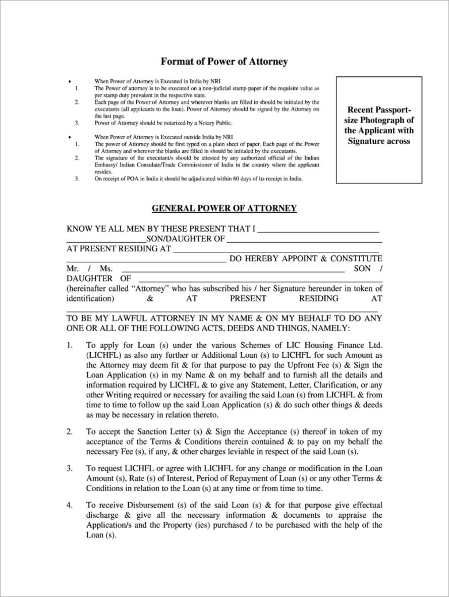 General Power Of Attorney Sample Pdf