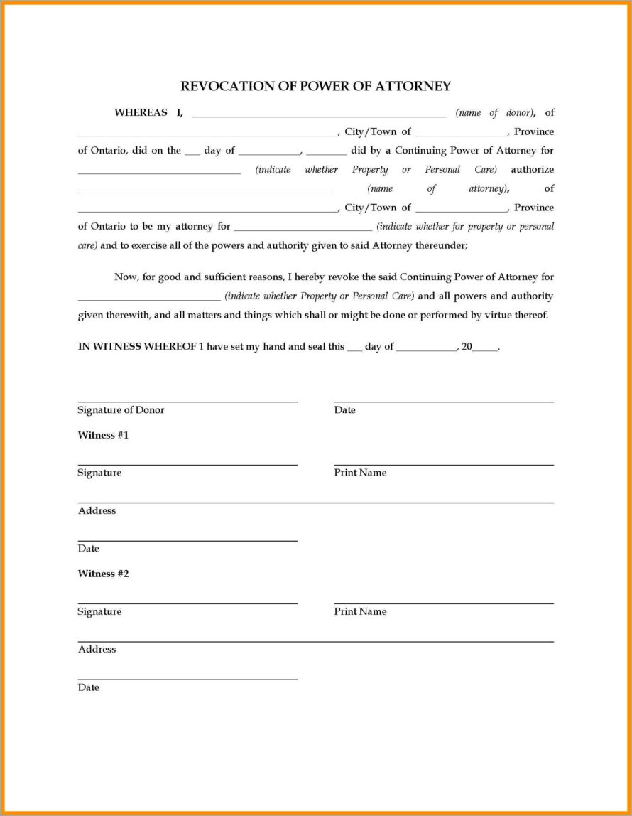 General Power Of Attorney Template Georgia