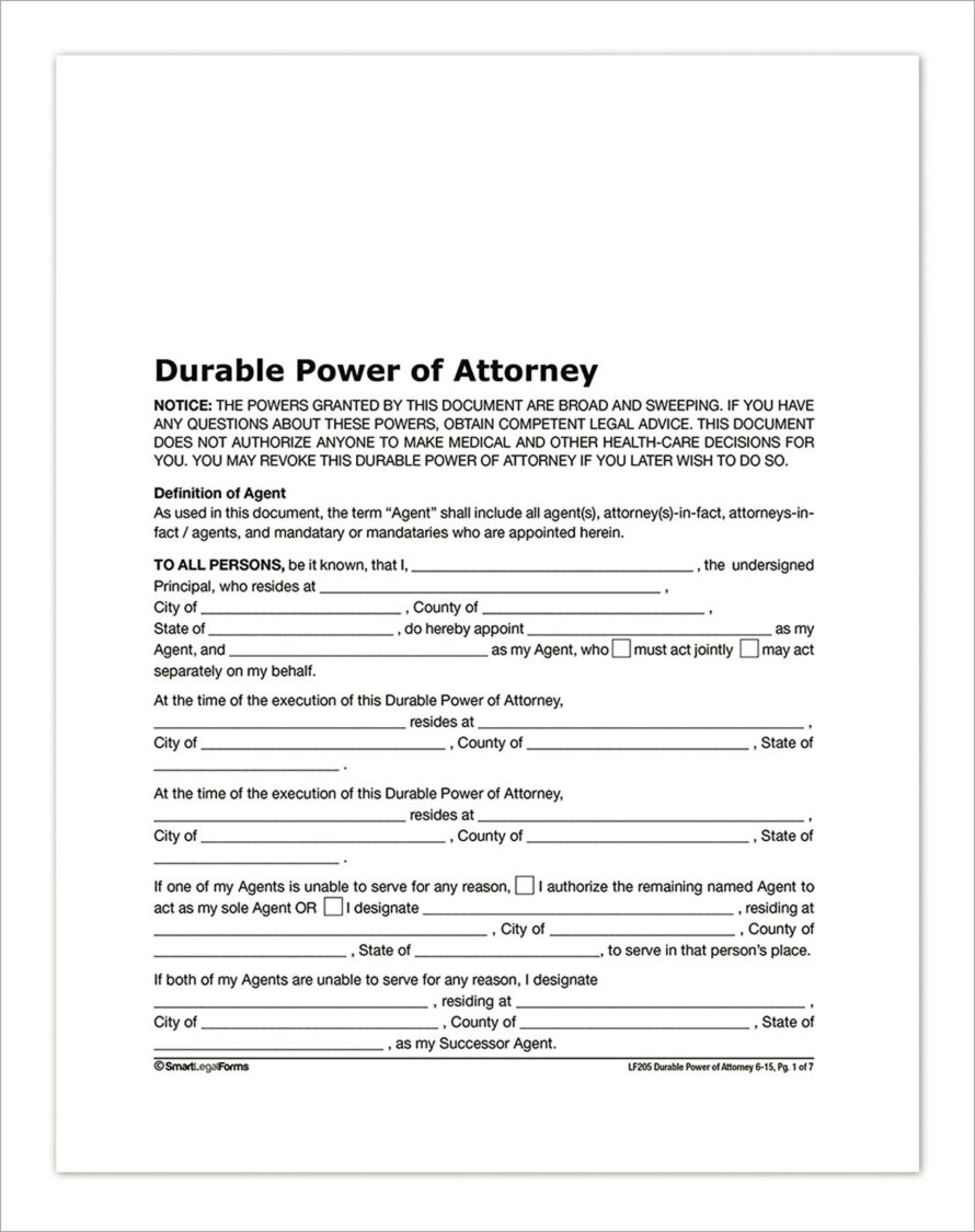 General Power Of Attorney Uk Example