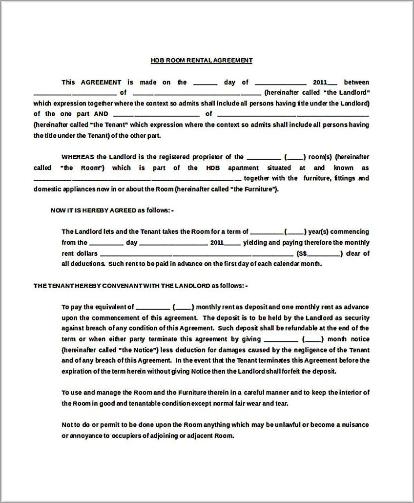 Generic Residential Lease Agreement Template