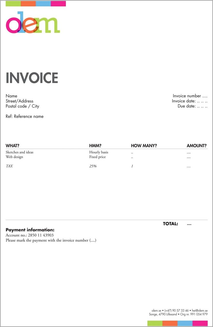 Germany Freelance Invoice Template