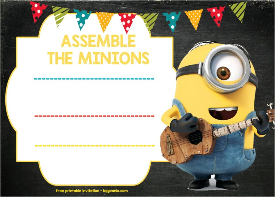 Girl Minion Invitation Template Free