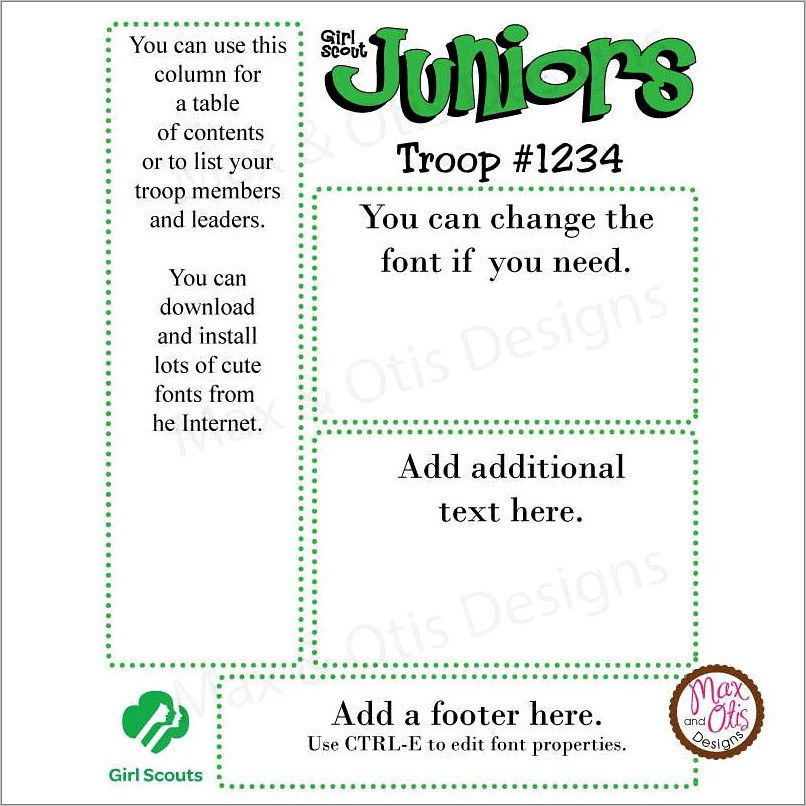 Girl Scout Newsletter Template