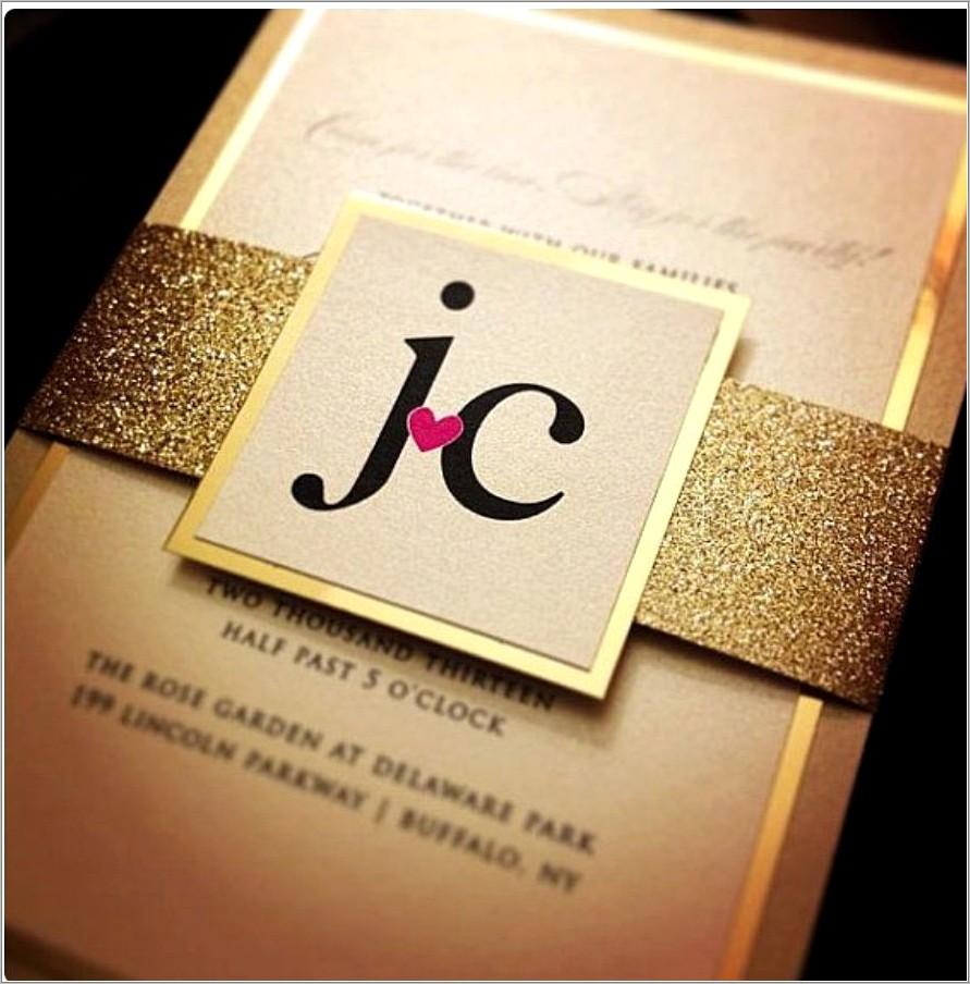 Golden Wedding Invitations Samples