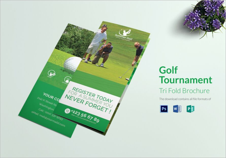 Golf Brochure Design Template