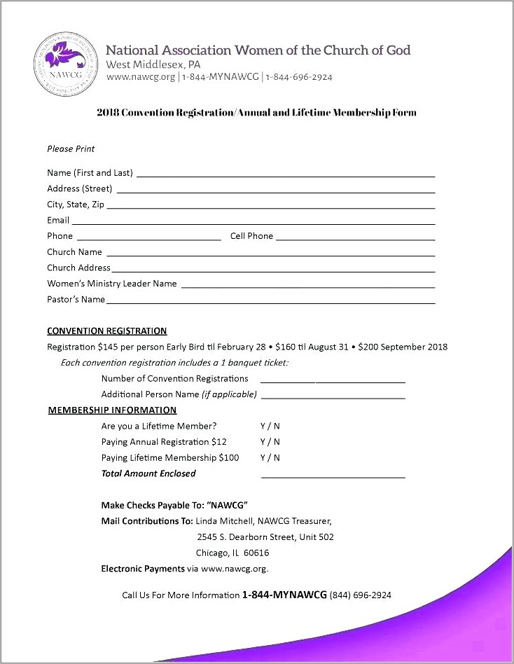 Golf Club Membership Form Template