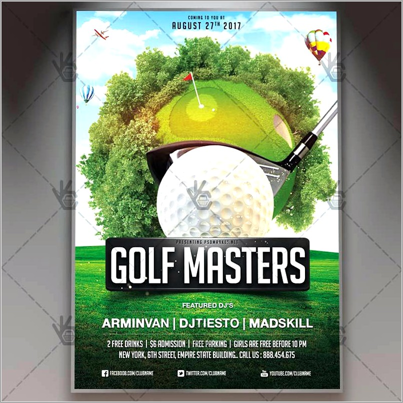 Golf Outing Brochure Template Free