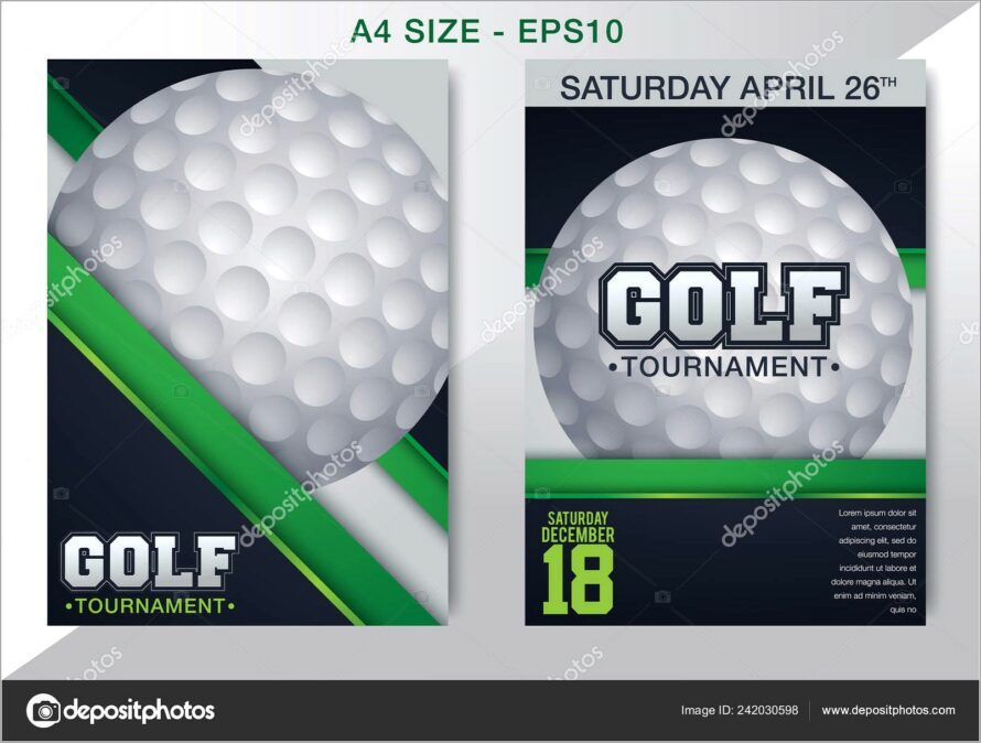 Golf Tournament Flyer Poster Magazine Template