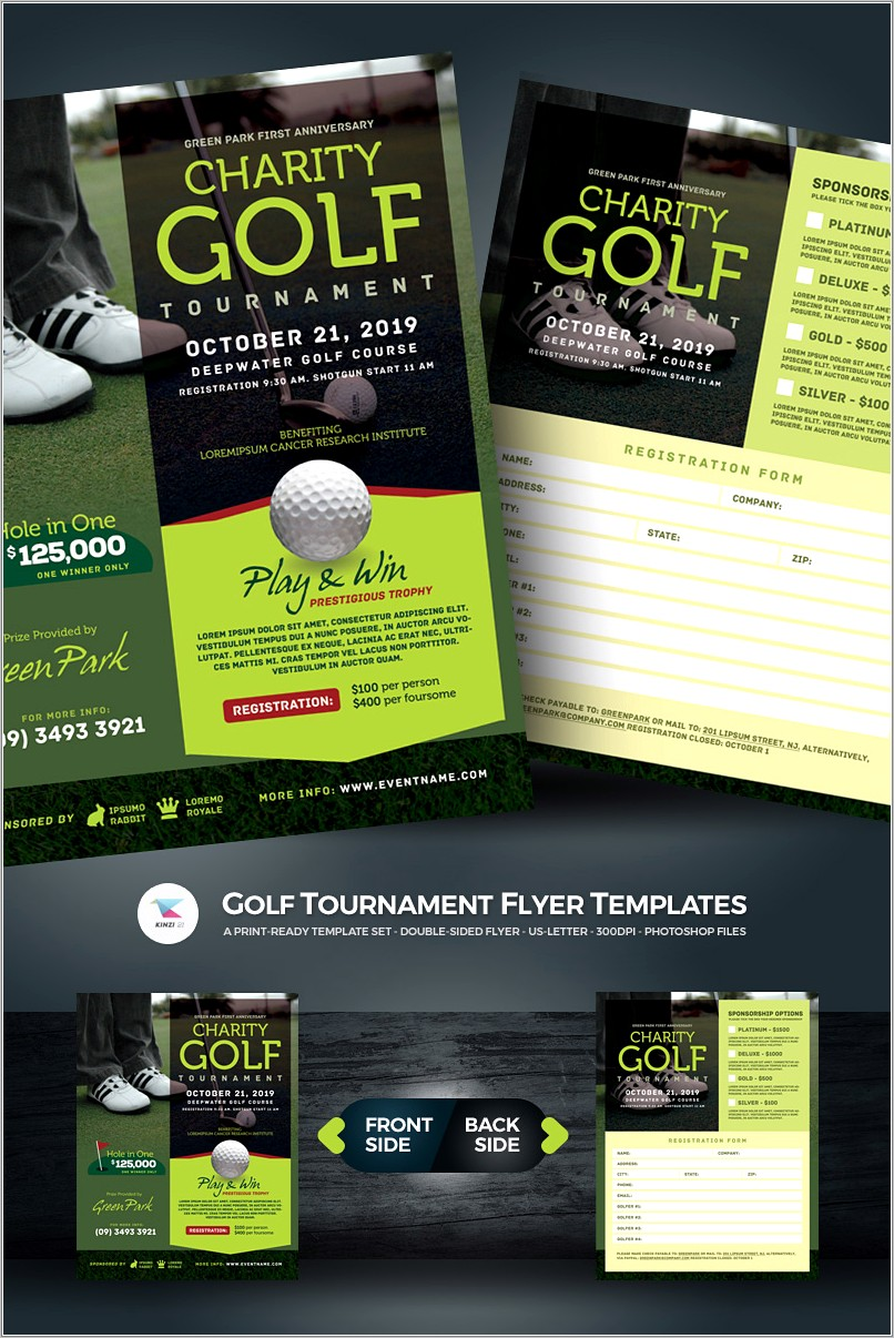 Golf Tournament Flyers Samples