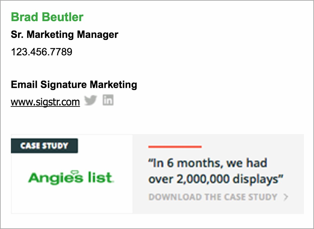 Good Email Signatures Examples