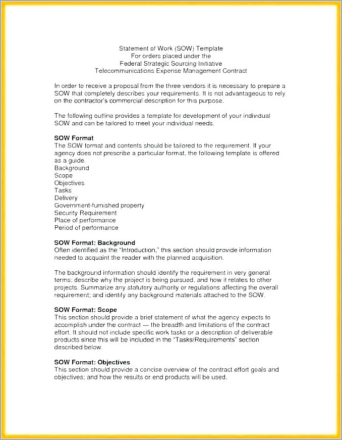 Government Contract Proposal Writing Sample