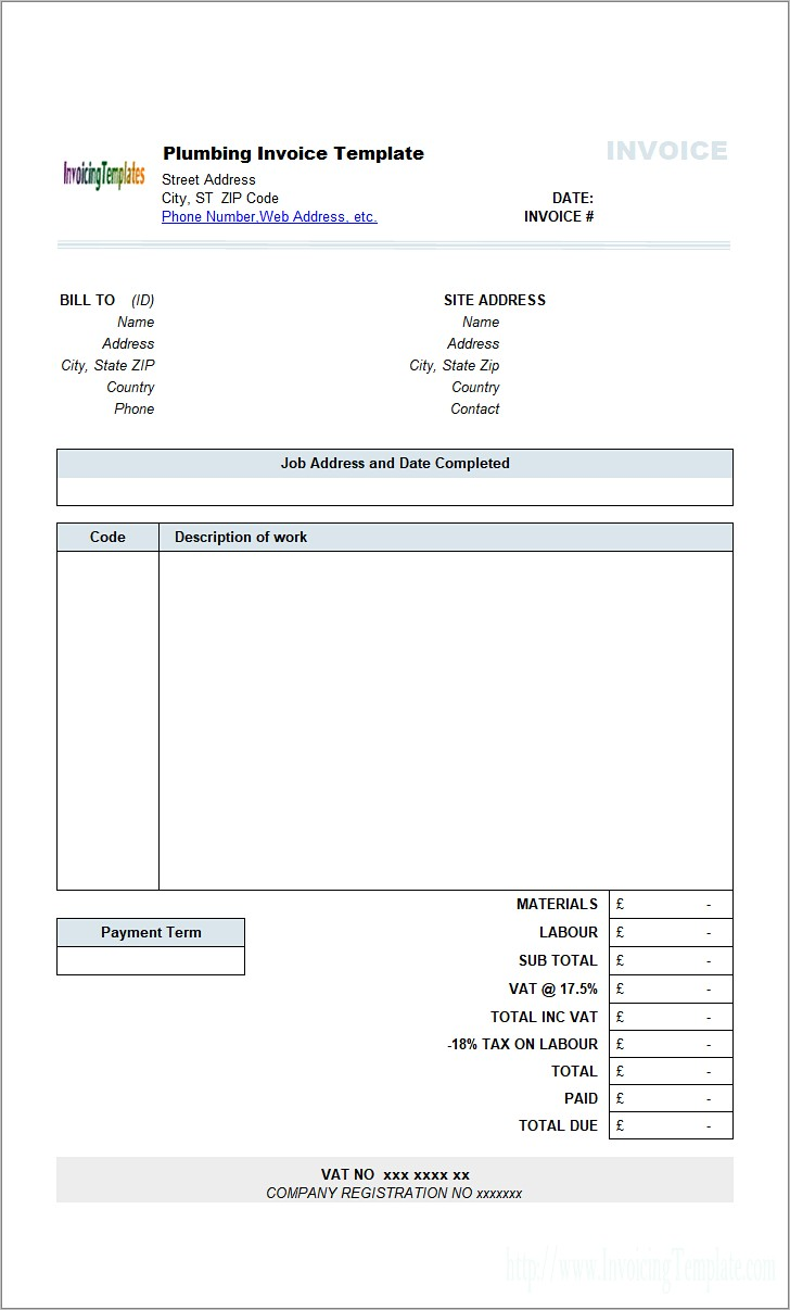 Government Contractor Invoice Template
