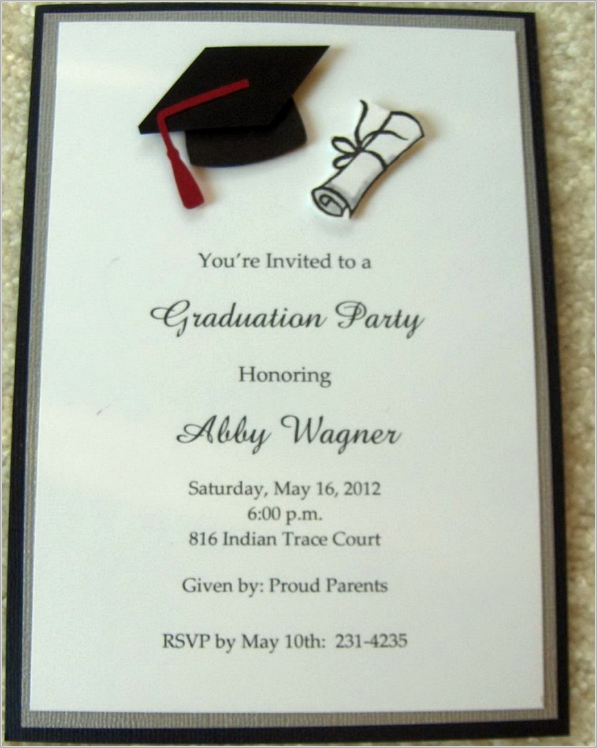 Graduation Announcement Templates Word